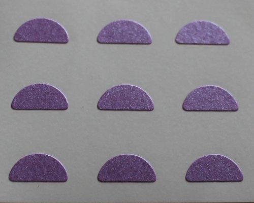 150 Etiquetas, 10x5mm Half Moon Forma, Púrpura, pegatinas autoadhesivas, Minilabel Formas