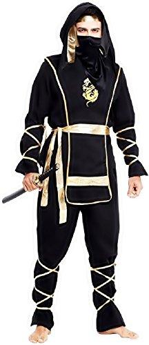 Inception Pro Infinite Einheitsgröße - Kostüm - Verkleidung - Karneval - Halloween - Ninja Krieger - Schwarze Farbe - Erwachsene - Mann - Junge