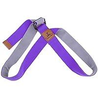 F Fityle Premium Cinta Elástica de Poliéster y Algodón, Cuerda Ejercitadora para Extensibilidad - Púrpura