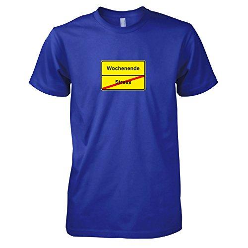 TEXLAB - Schluss mit Stress Schild - Herren T-Shirt Marine