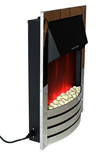 Elektrischer Kamin Kaminofen Kaminfeuer LED Animation Mit Heizung Und  Fernbedienung Von Komerci   Heizstrahler Onlineshop