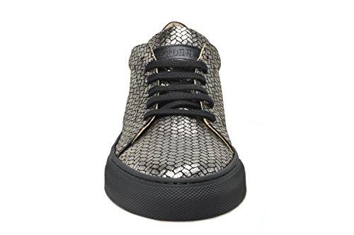BERDINI , Baskets pour femme Metallic Twist Black