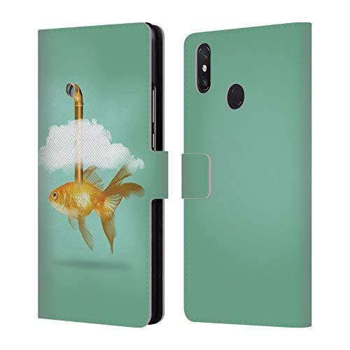 fizielle Vin Zzep Periskop Goldfisch Fisch Brieftasche Handyhülle aus Leder für Xiaomi Mi Max 3 ()