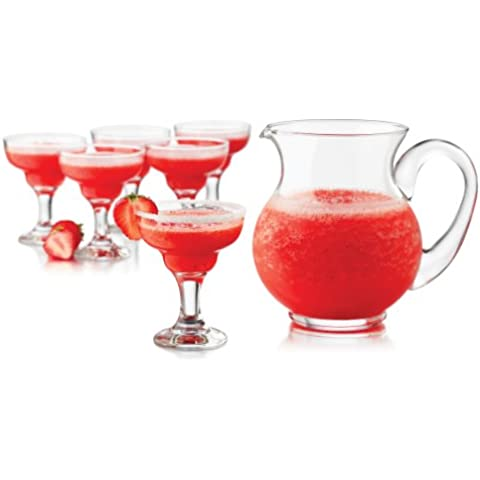 Libbey 7-Piece Cocktails Mini Margarita Pitcher and Glass