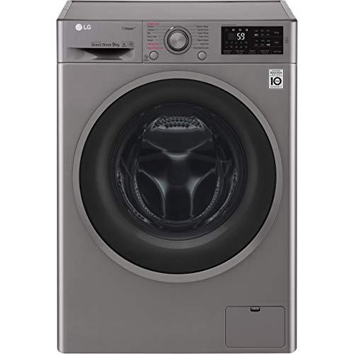 LG F4J6VY8S Rated Freestanding Washing Machine - Graphite