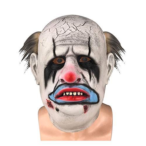 Kostüm Weiblich Scary Clown - HYJMJJ Latex Scary Clown Maske, Haar Halloween Kostüm Party Requisiten Masken Dekorationen Gruselige Scary Maske