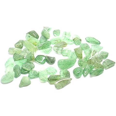 Mystery Mountain - Cristalli burattati avventurina verde, di alta qualità, pietra di 20 g, con sacchetti