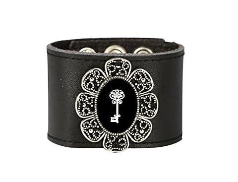 Fait à la main Mode Style Bracelet manchette Bracelet en cuir Wrap Bracelet pour femmes par Tizi Bijoux