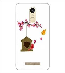 PrintDhaba Love Birds D-1183 Back Case Cover for XIAOMI REDMI NOTE 3 (MEDIA TEK) (Multi-Coloured)