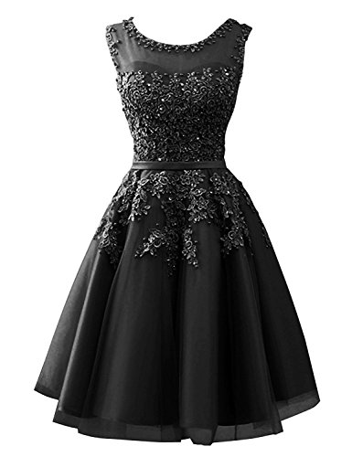 CLLA dress Damen Abendkleider Mit Applikationen Elegant Ballkleid Brautjungfernkleider Kurz...