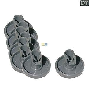 Korbrolle Korbrollen AEG Favorit Zanussi Juno Privileg Spülmaschine Unterkorb Geschirrspüler 40mm 8 Stück 8er Set 5028696400