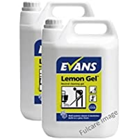 Evans a lunga durata limone fragranza neutra pulizia gel detergente e detergente multiuso  l x2bottiglie
