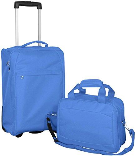 Nylon Kofferset 'Island', 2-tlg. für Wochenend- und Kurzreisen Farbe Blau