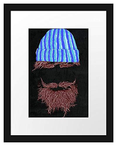 Picati Hipster Black Bilderrahmen mit Galerie-Passepartout | Format: 38x30cm | garahmt | hochwertige Leinwandbild Alternative