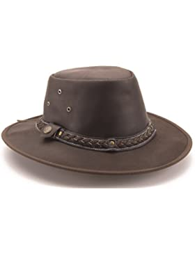 Ottenuta Brunhide per tutte le stagioni-cappello completamente zigrinature in pelle #501-300
