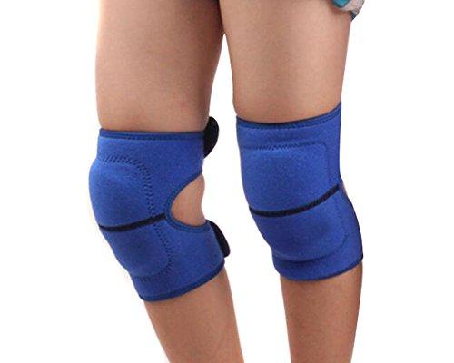 Knieschützer für Kinder zum Sporteln, dicke SBR-Schutzkissen, elastischer Schutz für Tanzen, Volleyball, Kriechen, Schutz fürs Kniegelenk, blau