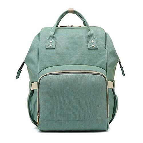 Nosterappou Mamabeutel Schulter Multifunktions-Reisetasche große Kapazität Mutter Tasche Mutter Baby Mutter aus Stillen Mode Rucksack Mode strapazierfähige Handtasche (Farbe : Light Green) -