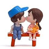 Dianhai junge Mädchen Puppen Geburtstag Kuchen Dekoration sitzen Hocker paar Valentinstag Ornamente Geschenk küssen
