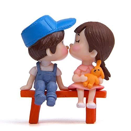 Wovemster Valentinstag Küsst - Sitzender Schemel, Der Verzierungen Der Paar-Jungen-Mädchen Geburtstags-Kuchen-Dekorations