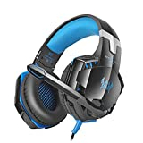 Vanpower GS600 Gaming-Headset, universelles Headset, Gaming-Stereo-Kopfhörer mit Mikrofon für Computer blau