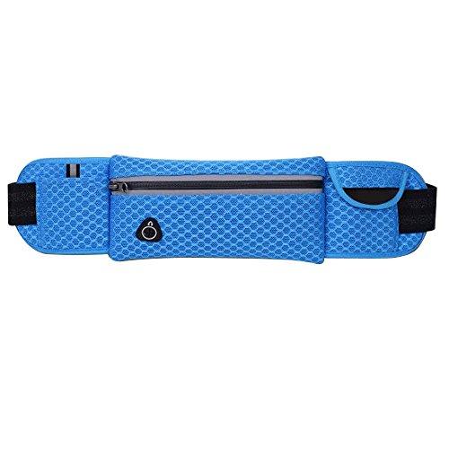 Wander-Hüfttaschen Wasserdicht Bauchtasche Jogging Tasche Gürteltasche mit Reissverschluss By Sijueam Blau