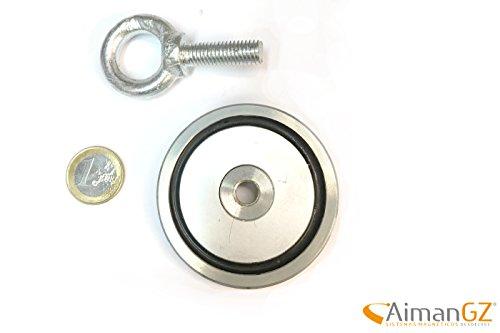 1superiman mit Haken, Durchmesser 67mm x 12mm dick–120kg Kraft zum Angeln mit Magneten