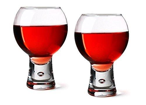 DUROBOR Durobor Lot de 2 verres à vin rouge, Verres à courte Potence Base à bulle 30 cl 330 ml