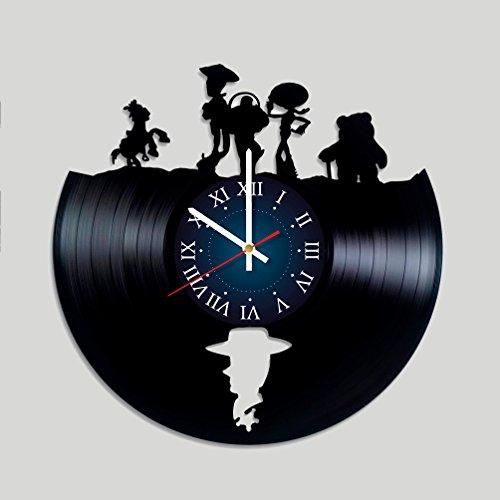 My STORE For YOU Toy Story Wanduhr, Vinyl-Platten-Motiv, Geschenk für Kinder, Mädchen und Jungen - Dekorieren Sie Ihr Zuhause mit modernen großen Disney-Kunst (Ihre Machen Sie Eigenen Batman-kostüm)