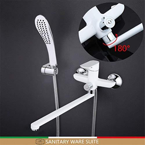 Preisvergleich Produktbild Badezimmerdusche Faucets Set Schwarze Badewanne Tap Mixer Wand Montiert Wasserfall Badewanne Wasserhahn Mit Hand Duschkopf, Gray