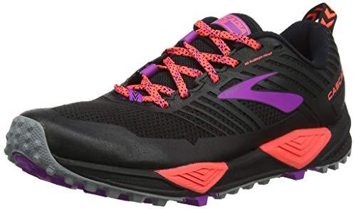 Brooks Cascadia 13, Zapatillas de Cross para Mujer, Negro (Black/Coral/Purple 026), 37.5 EU