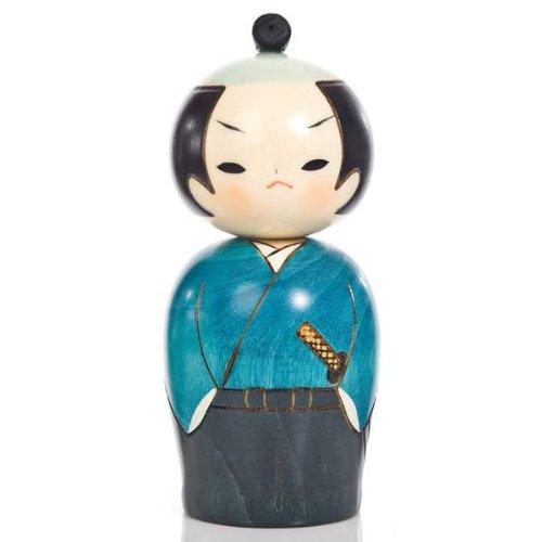 Samurai Japanische Krieger Kokeshi Puppe