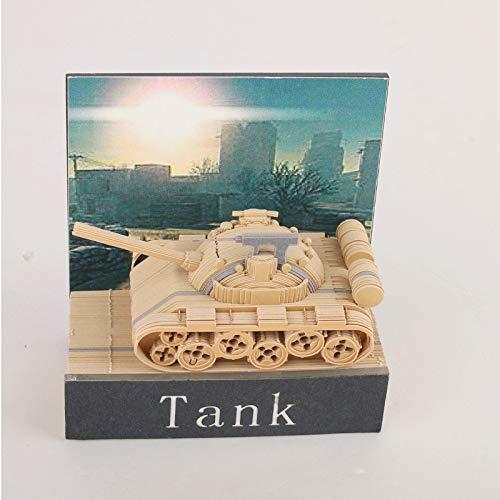 Japans Qingshui Tempel-Typ Hinweis Kreative Dreidimensionales Modell Papier Schnitzen Geschenk Military Division Fan Tank 3D Notizbuch