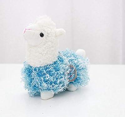 WYBL Bonita Oveja Alpaca Juguetes De Felpa Kawaii Bolsa Mochila Colgante Llavero Relleno Animales Niños Juguetes para Niños Cumpleaños Regalo 12Cm Azul por WYBL