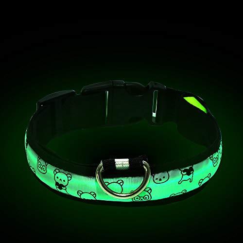 Pomisty Leuchtendes Halsbänder, LED Halsband Hund,Halsband Hundehalsband Nylon Hundeband Sicherheits Halsband für Hunde (Style5) (Sicherheit Hund Halsband)