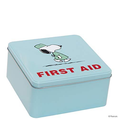 Butlers Peanuts Dose First Aid- Erste-Hilfe-Box - Hausapotheke - Blech - bunt - 17,6 x 17,6 x 8,5 cm