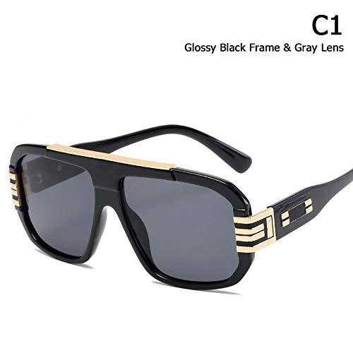 ZHOUYF Sonnenbrille Fahrerbrille Mode Kühlen Schild Stil Sonnenbrille Männer Frauen Gradienten Marke Design Vintage Sonnenbrille Oculos De Sol, A