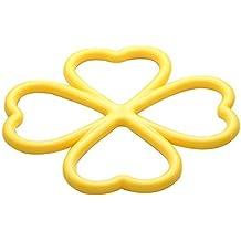 Resistente al calor Mat suministros productos básicos forma de corazón mesa cojín potholder ramdon color