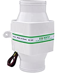 ECO-WORTHY 130 CFM 12 V 7,6 Cm Tuyau Marine Souffleur D'assÈChement Ventilateur Grille D'aÉRation Ventilation Bateau Pour Caravane