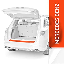 Luxshield Ladekantenschutz Folie inkl. Profi-Rakel - C-Klasse Limousine W205 I 2014-2020 - Stoßstangenschutz, Kratzschutz, Lackschutzfolie - Transparent glänzend Selbstklebend