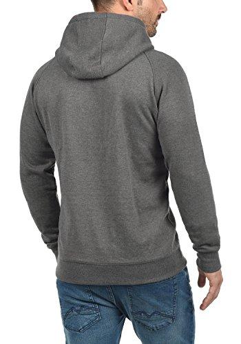 BLEND Cross Herren Kapuzenpullover Hoodie Sweatshirt aus hochwertiger Baumwollmischung Pewter Mix (70817)