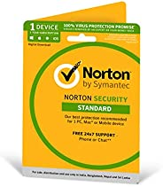 Norton Security Standard - 1 Device - 1 Year (Total Security For PC, Mac, Android, IOS) - Physical Delivery (