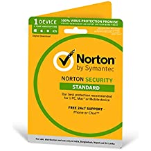 Norton Security Standard - 1 Device - 12 months (PC, Mac, Android, IOS) - Physical Delivery (Activation Key Card)