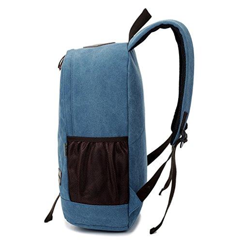 Outreo Rucksack Freitag Backpack Schulrucksack Vintage Rucks?cke Herren Laptoprucksack Weekender Tasche Daypack Outdoor Sporttasche Reiserucksack f¨¹r Schul Uni Schultaschen Canvas Blau