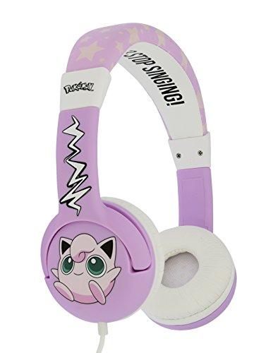 OTL PK0568 Pokemon JigglyPuff Audio Headphones for Children 3 to 7 Years Pokemon Best Price and Cheapest
