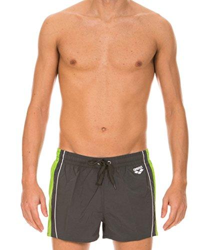 Arena Berfy Short non élastique pour homme Asphalt/Energy Green/White