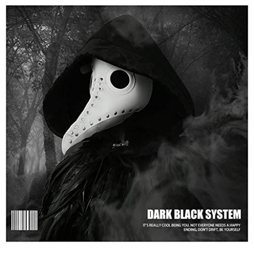 Halloween Party Crow Doctor Maske, Cosplay Dekoration, Ledermaterial LUYIYI (Color : White) (White Doctor's Mantel Kostüm)