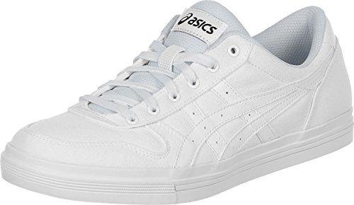 Asics Aaron, Baskets Basses Mixte Adulte Blanc