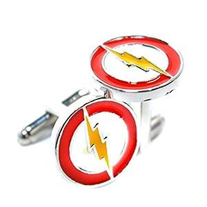 Flash, Beleuchtung Manschettenknöpfe inspiriert–The Flash–Superhero Shirt Zubehör für Herren