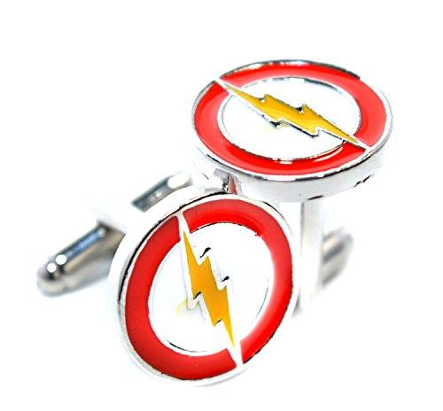 Gemelli da polso, motivo super eroe Flash Gordon, da uomo