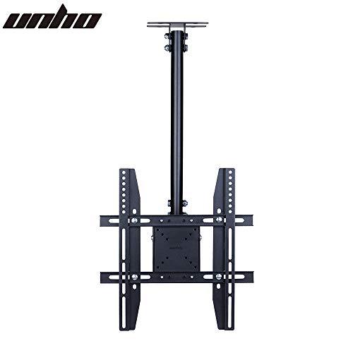 Unho TV Fernseher Deckenhalterung Schwenkbar Neigbar Höhenverstellbar für 23-55 Zoll LED LCD OLED Plasma Fernseher,VESA bis 400×400,max. Tragegewicht 30kg